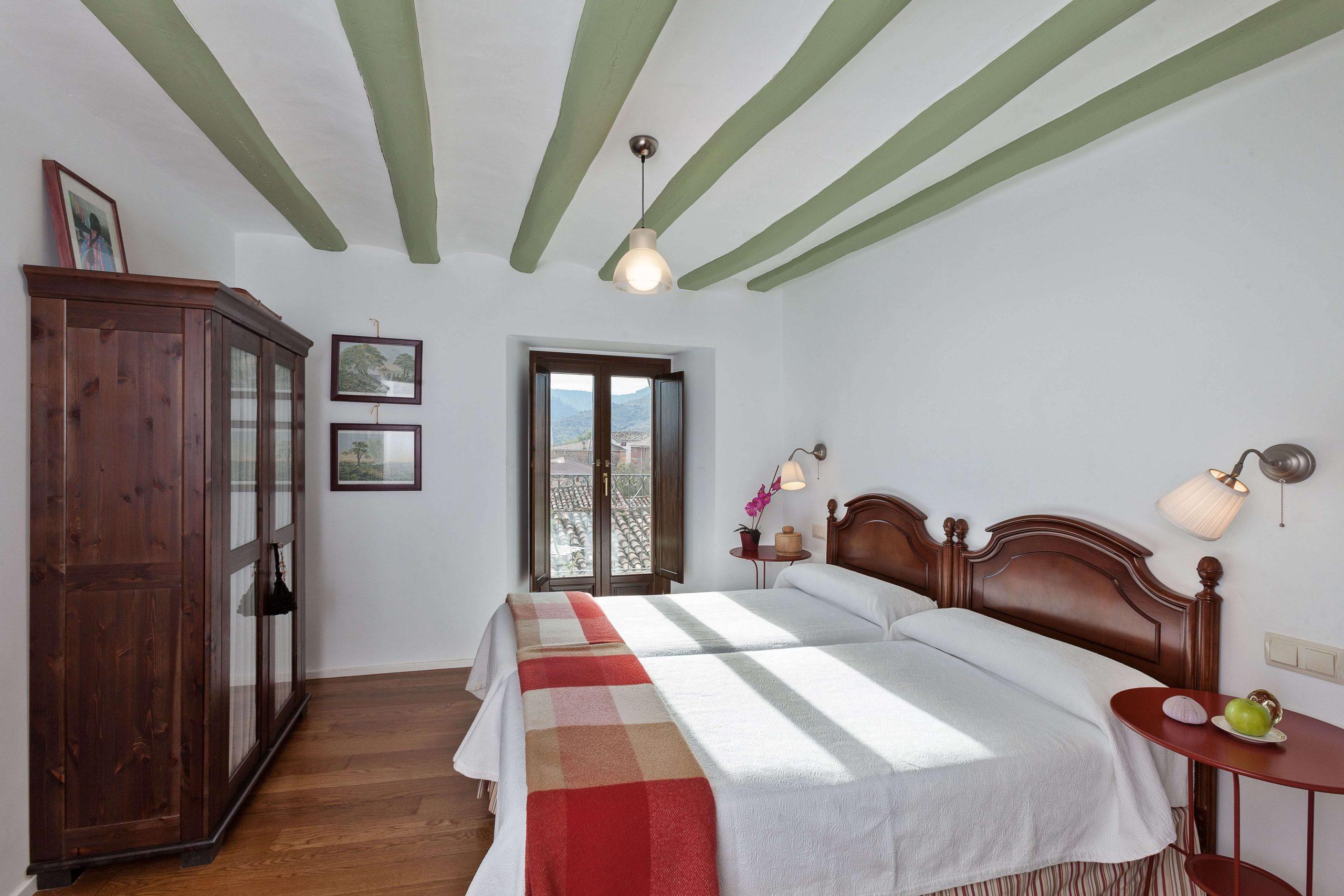 Casa rural La Rinconada en Azuelo Navarra Habitación verde